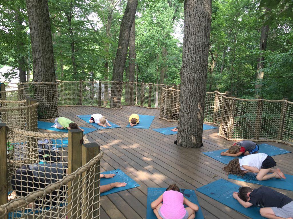 treehouse yoga camp